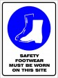 SAFETY FOOTWEAR MUST BE WORN ON THIS SITE, 300MM X 225MM X 5MM THICK