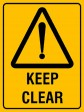 KEEP CLEAR, 300MM X 225MM X 5MM THICK
